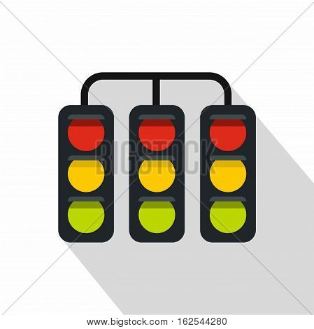 Sport traffic light icon. Flat illustration of sport traffic light vector icon for web isolated on white background