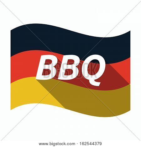 Isolated German Flag With    The Text Bbq