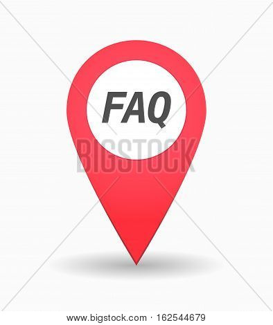 Isolated Map Mark With    The Text Faq