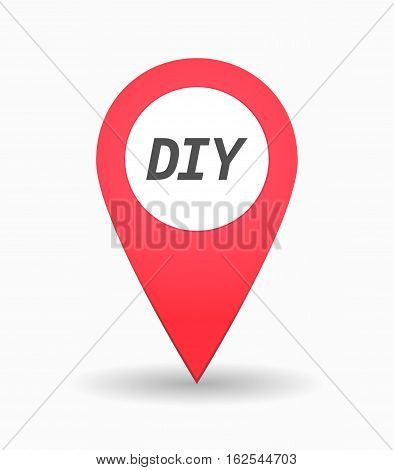 Isolated Map Mark With    The Text Diy