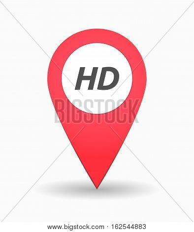 Isolated Map Mark With    The Text Hd