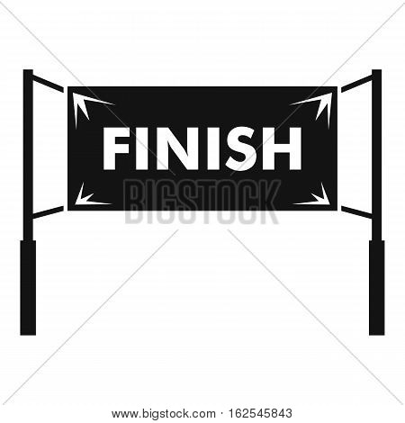 Finish line gates icon. Simple illustration of finish line gates vector icon for web