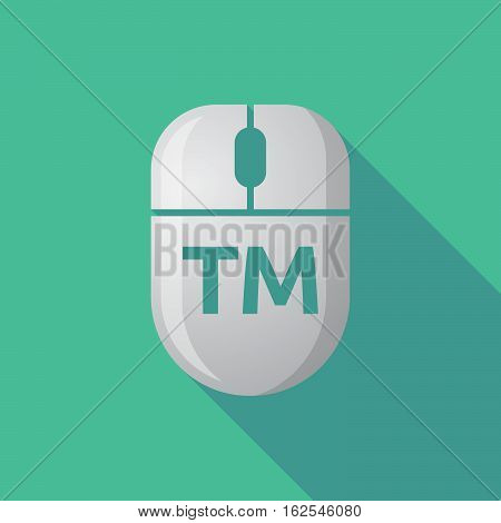 Long Shadow Computer Mouse With    The Text Tm