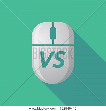 Long Shadow Computer Mouse With    The Text Vs