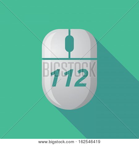 Long Shadow Computer Mouse With    The Text 112
