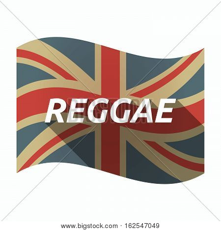 Isolated Uk Flag With    The Text Reggae