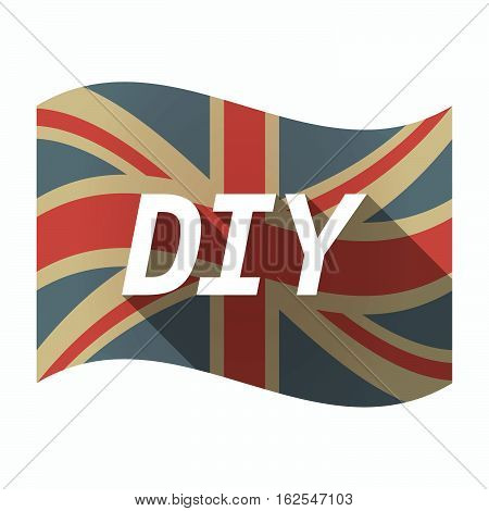 Isolated Uk Flag With    The Text Diy