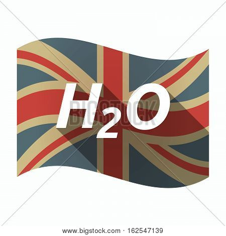 Isolated Uk Flag With    The Text H2O