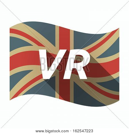 Isolated Uk Flag With    The Virtual Reality Acronym Vr