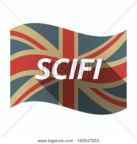 Isolated Uk Flag With    The Text Scifi