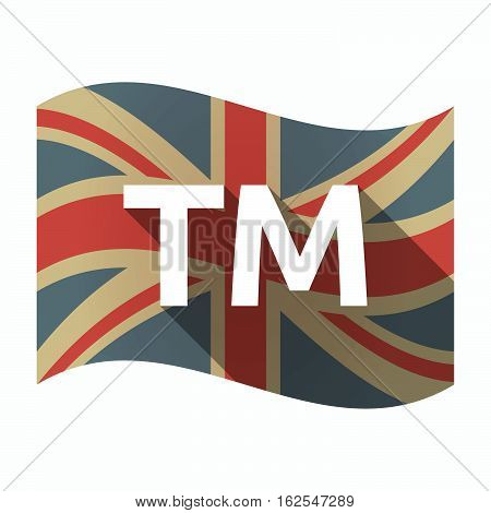 Isolated Uk Flag With    The Text Tm