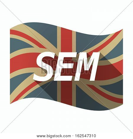 Isolated Uk Flag With    The Text Sem