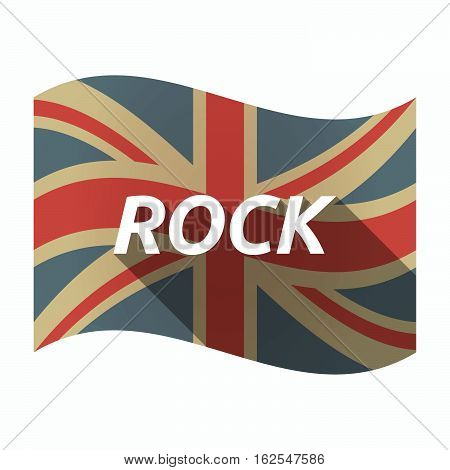 Isolated Uk Flag With    The Text Rock