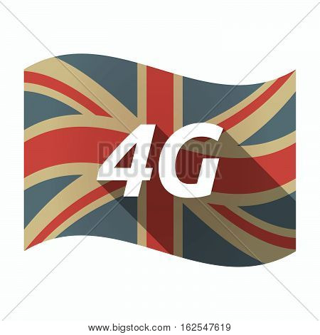 Isolated Uk Flag With    The Text 4G