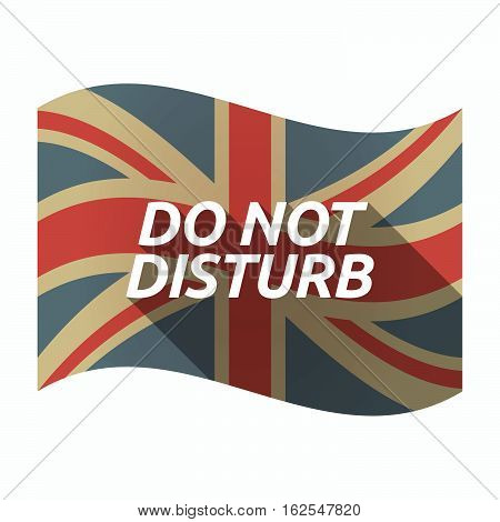 Isolated Uk Flag With    The Text Do Not Disturb