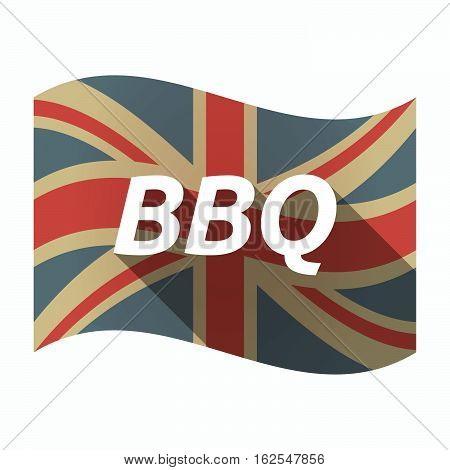 Isolated Uk Flag With    The Text Bbq