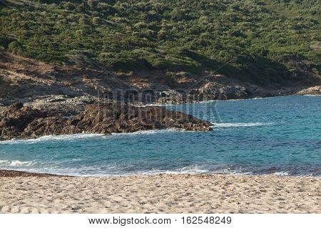 Sea View Of Guadeloupe Island Caribbean Beach