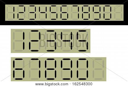 Vector, multipurpose Digital Square Number Black Theme