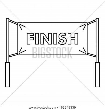 Finish line icon. Outline illustration of finish line vector icon for web