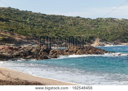 Sand Beach And Sea Coast In Guadeloupe