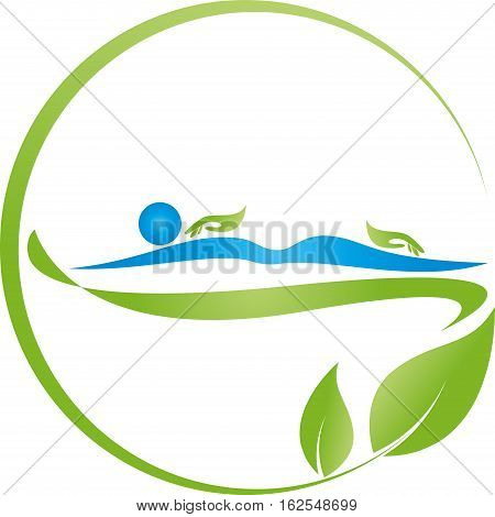 Human and hands, massage and naturopaths logo