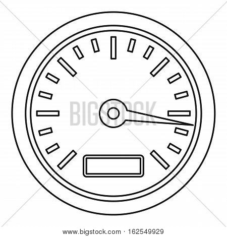 Speedometer or gauge icon. Outline illustration of speedometer or gauge vector icon for web