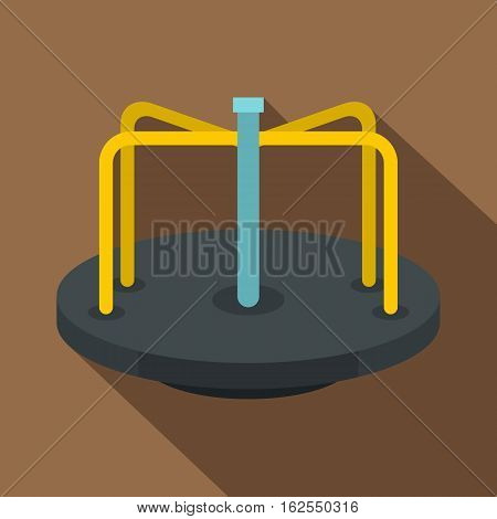 Merry go round icon. Flat illustration of merry go round vector icon for web isolated on coffee background