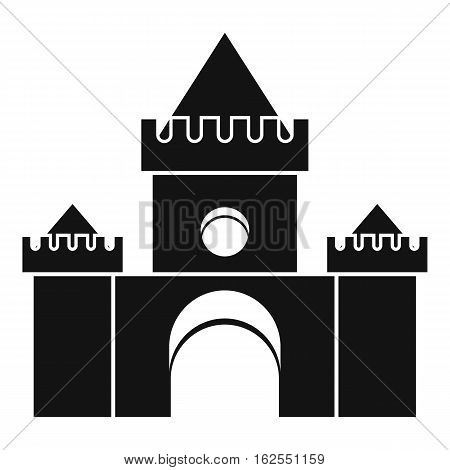 Fairytale castle icon. Simple illustration of fairytale castle vector icon for web