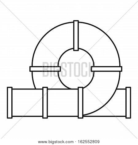 Slider water tube icon. Outline illustration of playground slider water tube vector icon for web