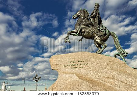 Peter the Great monument, the Bronze Horseman, St. Petersburg Russia
