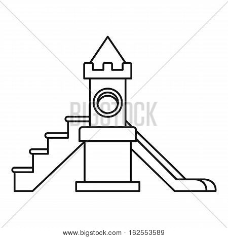 Childrens slide playground icon. Outline illustration of childrens slide playground vector icon for web