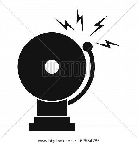 Fire alarm icon. Simple illustration of fire alarm vector icon for web