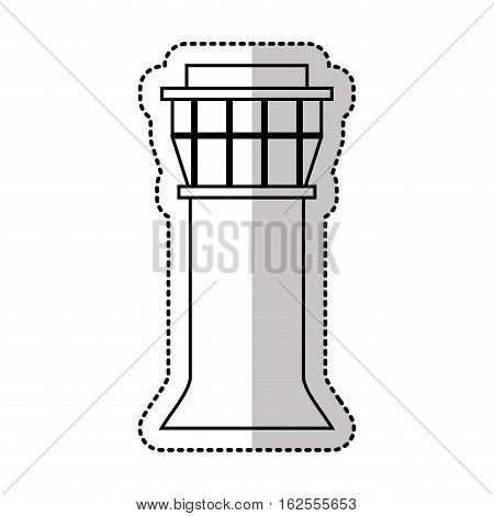 control tower airport icon vector illustration design