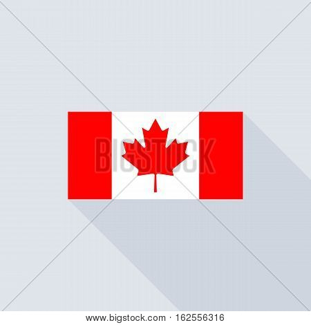 Canada flag , flat design vector with official proportion