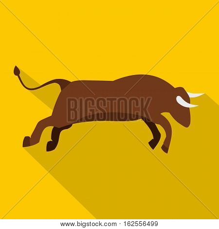Bull icon. Flat illustration of bull vector icon for web