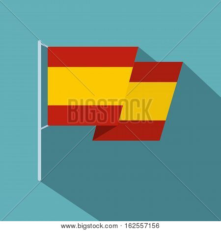 Flag of Spain icon. Flat illustration of flag of Spain vector icon for web