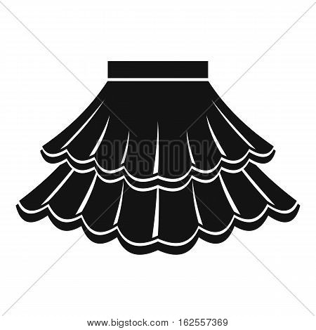 Skirt icon. Simple illustration of skirt vector icon for web