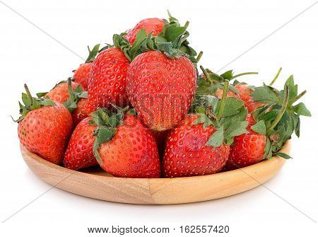 Strawberries isolated over white background garden, colorful, fruity