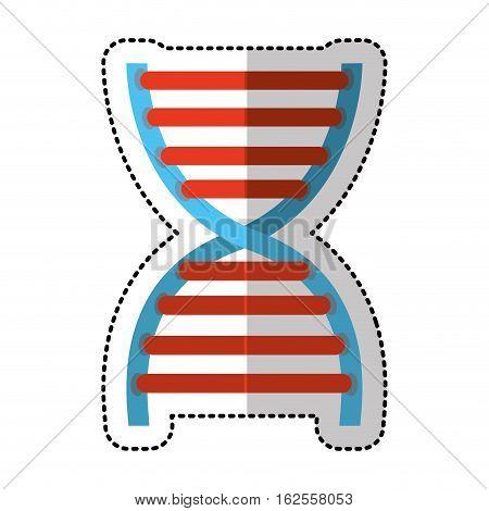 dna molecule isolated icon vector illustration design