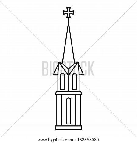 Church icon. Outline illustration of church vector icon for web