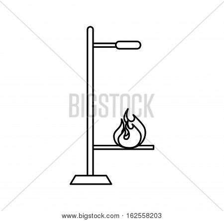 burner laboratory isolated icon vector illustration design