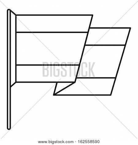 Flag of Spain icon. Outline illustration of flag of Spain vector icon for web