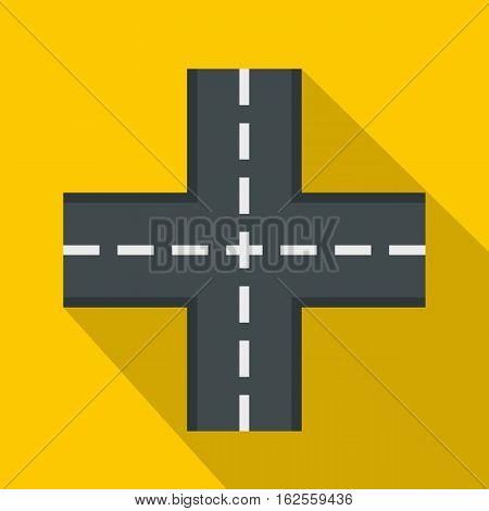 Crossing road icon. Flat illustration of crossing road vector icon for web