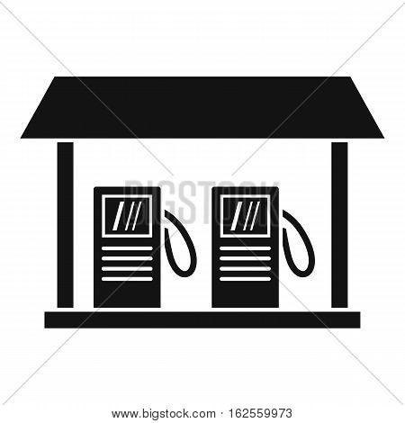 Gas station icon. Simple illustration of gas station vector icon for web
