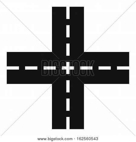 Crossing road icon. Simple illustration of crossing road vector icon for web