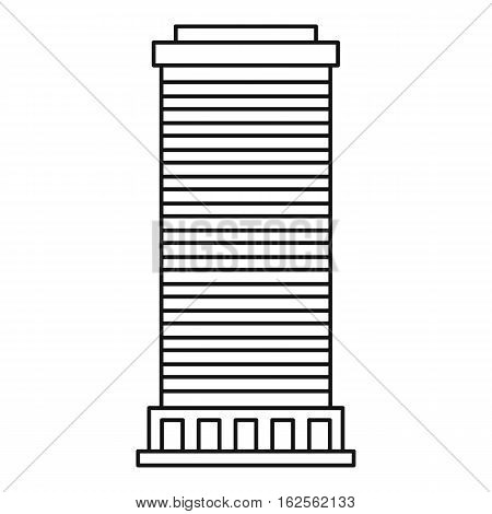 Column icon. Outline illustration of column vector icon for web