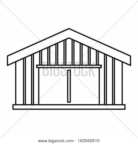 Garage icon. Outline illustration of garage vector icon for web