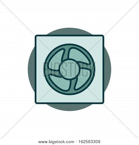 Ventilation colorful icon. Vector flat minimal concept ventilator symbol or sign