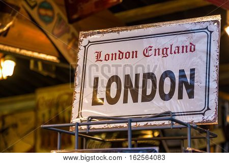 Replica Vintage London Street Sign