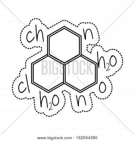 molecule structure isolated icon vector illustration design